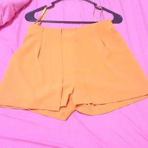 Orange mid ride dress shorts